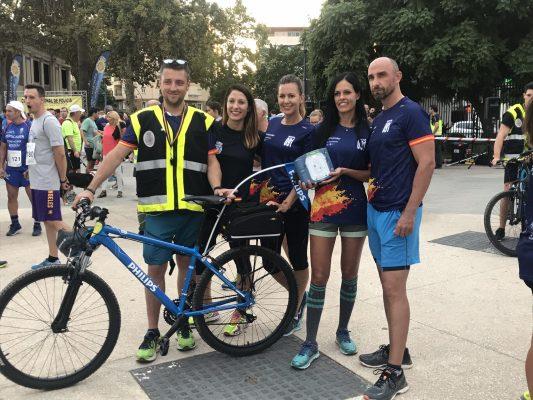 Ruta 091 camiseta y cardioprotección del recorrido en Málaga