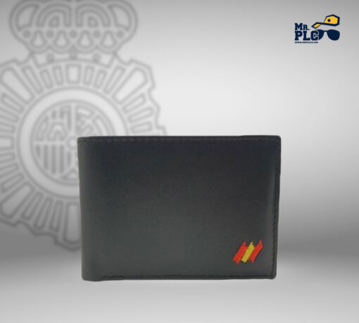 cartera portaplaca color negro