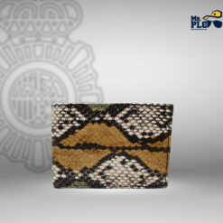 cartera serpiente tricolor