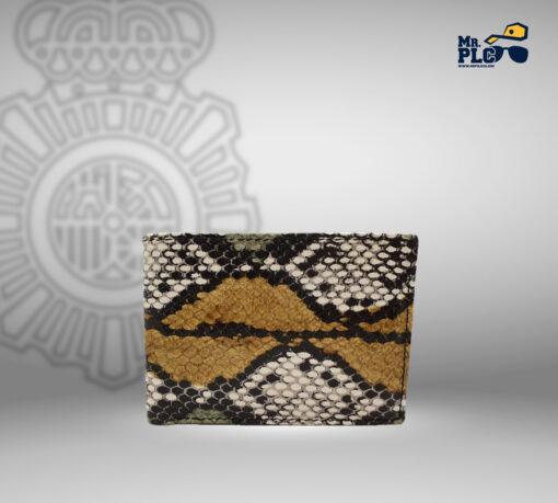 cartera serpiente tricolor